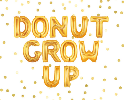 Donut Grow Up Balloons