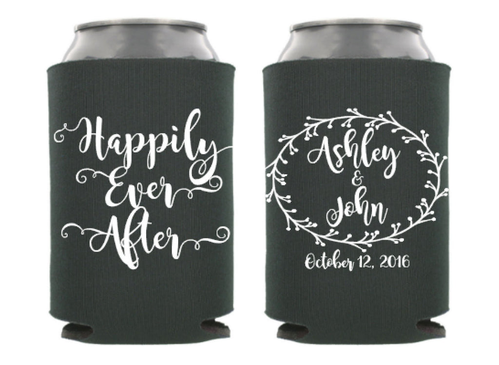 Happily Ever After Wedding Can Cooler