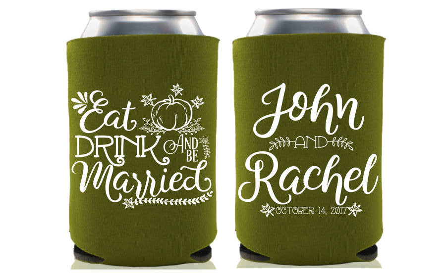 Eat, Drink & Be Married Wedding Can Cooler