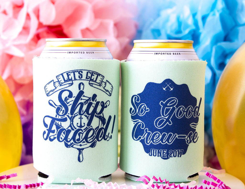 Let's Get Ship Faced Bachelorette Can Cooler