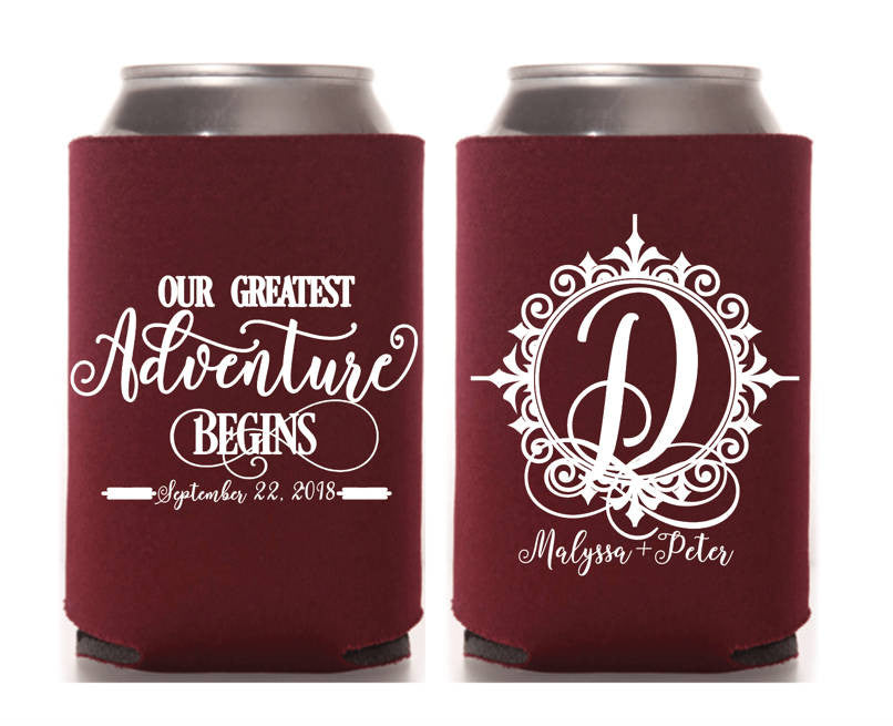 Greatest Adventure Monogram Can Cooler