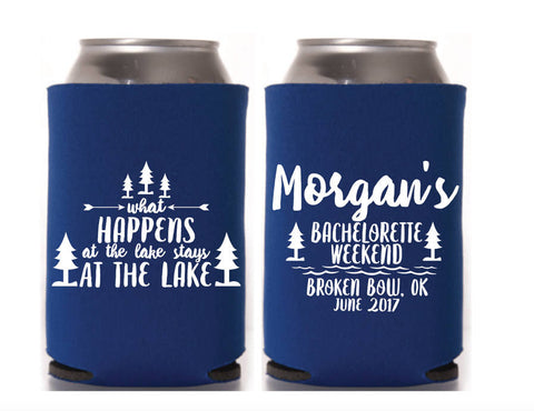 Bachelorette Lake Can Cooler