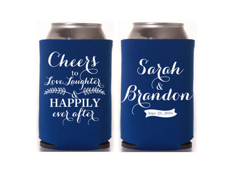 Cheers to Many Years Wedding Can Cooler