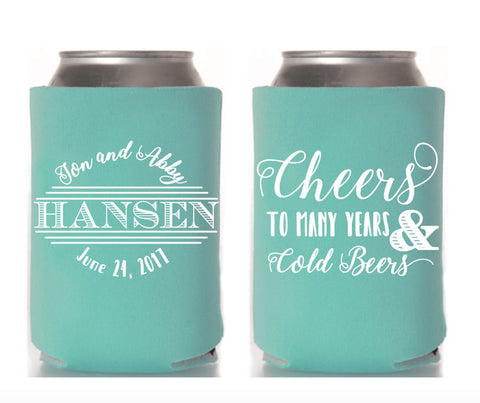 Cheers to Many Years & Cold Beers Can Cooler