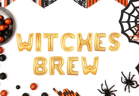 Halloween 14 Inch Gold Witches Brew Balloons