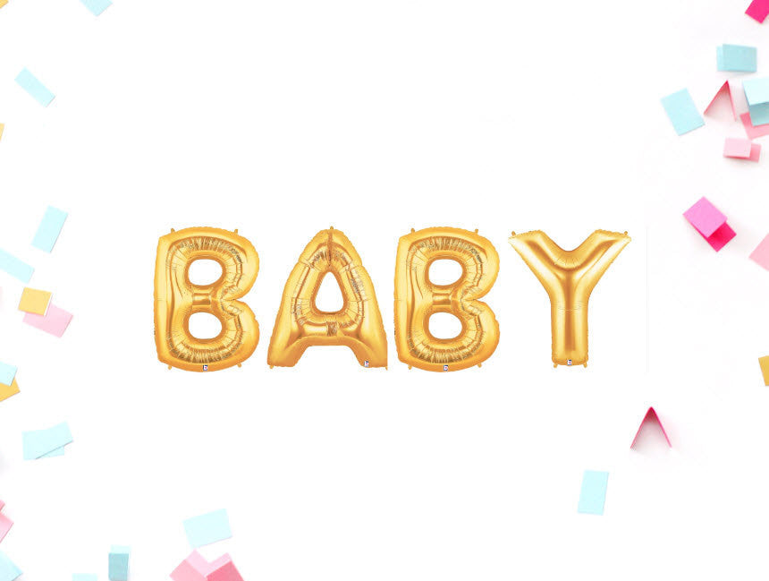 Baby 40 Inch Gold Balloons