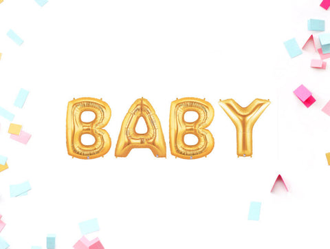 Gold Baby Shower 14 Inch Balloons