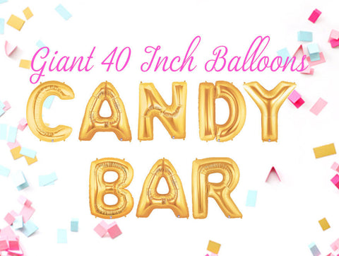 Candy Bar 40 Inch Gold Balloons