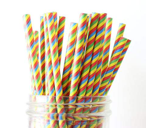 Candy Stripe Paper Straw