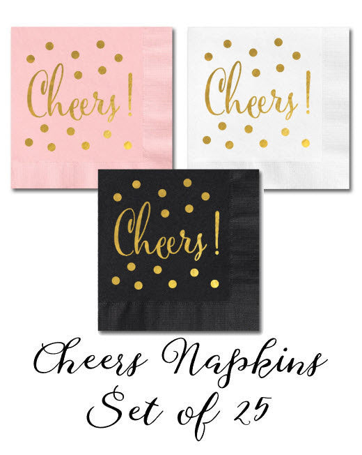Pink Cheers Napkins