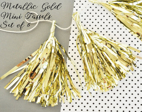 Gold Mini Tassels