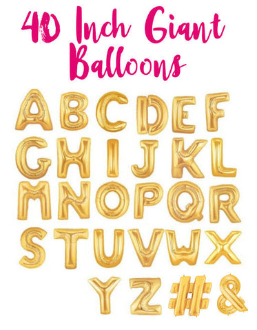 Giant 40 Inch Gold Letter Balloons