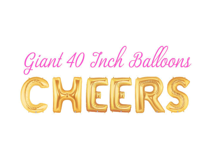 Cheers 40 Inch Gold Balloons
