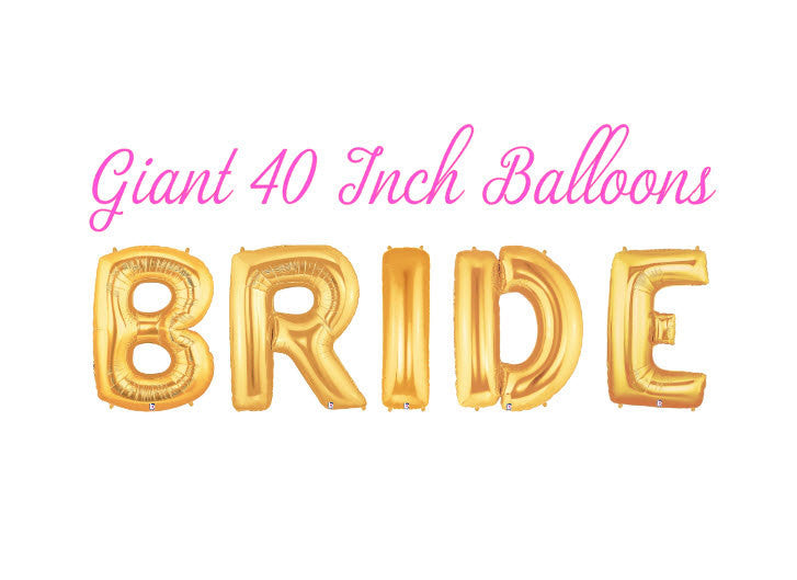 Bride 40 Inch Gold Balloons
