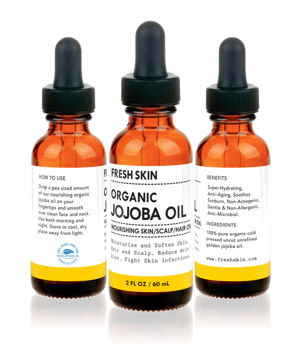 Organic Unrefined Deep Golden Jojoba oil - freshskin