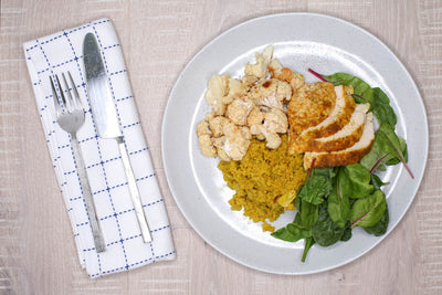 Curried Coconut Quinoa with Spiced Cauliflower