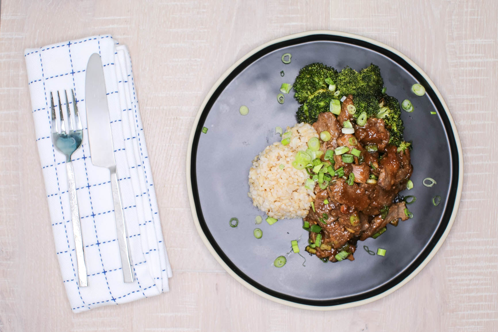 Broccoli Beef w/ Brown Rice