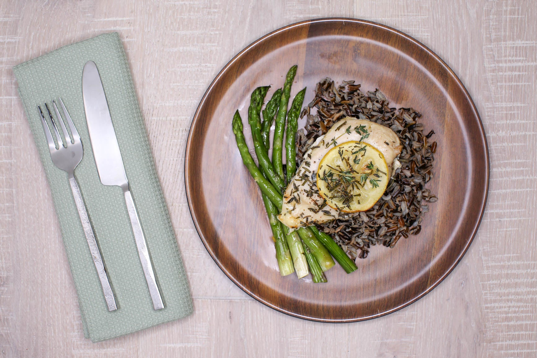Lemon Herb Chicken w/ Wild Rice