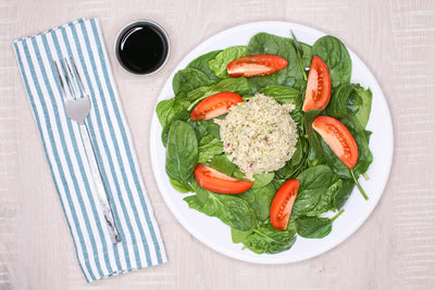Albacore Tuna Salad w/ Spinach, Tomatoes and Balsamic Vinaigrette