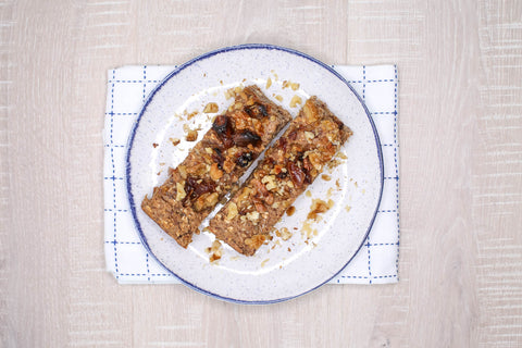 Baked Banana Nut Oatmeal Bars