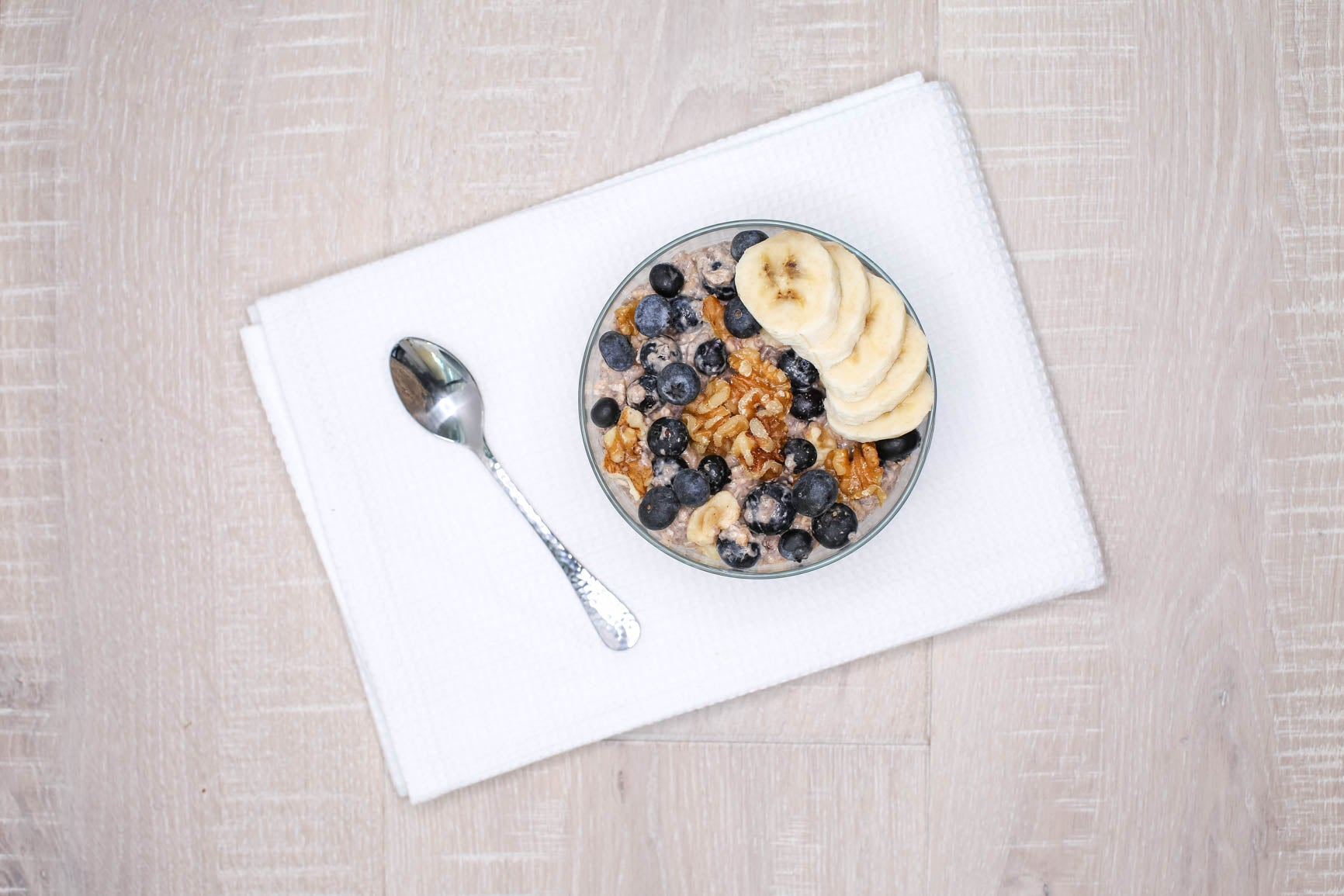 Blueberry Banana Walnut Overnight Oats
