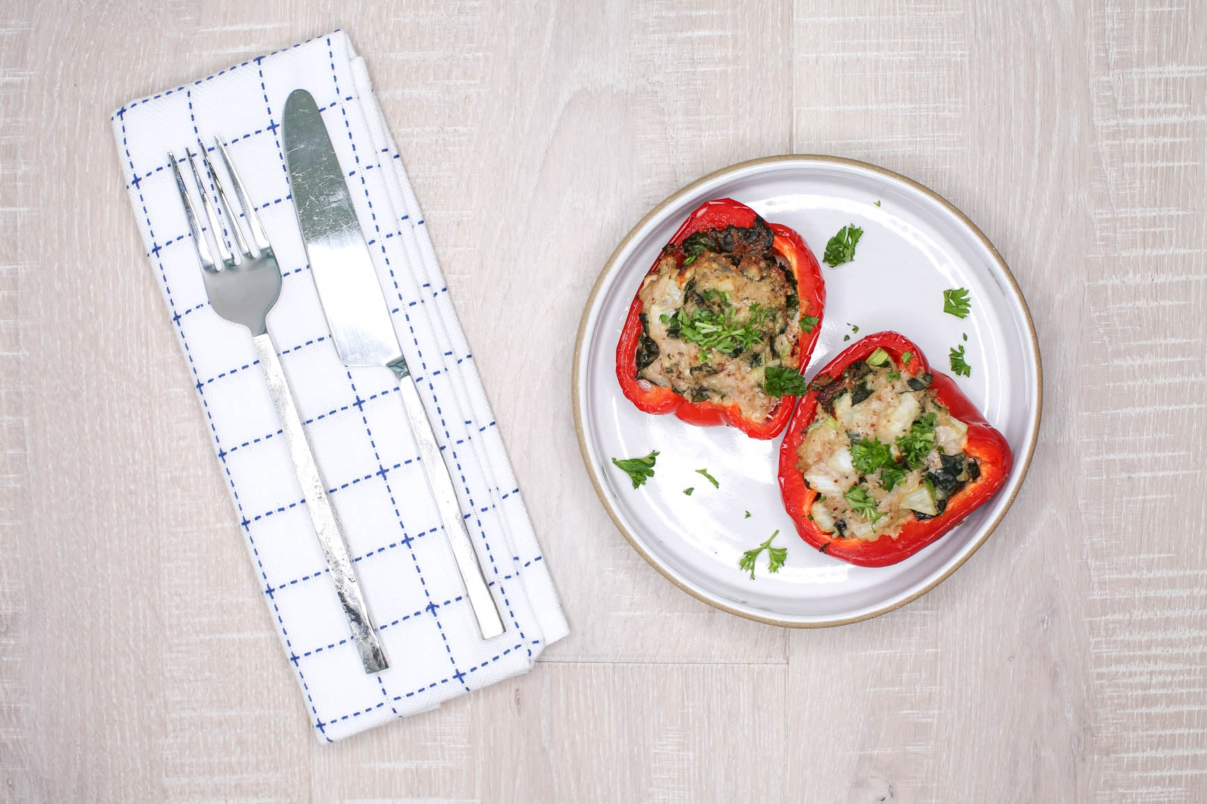 Stuffed Turkey & Kale Bell Peppers