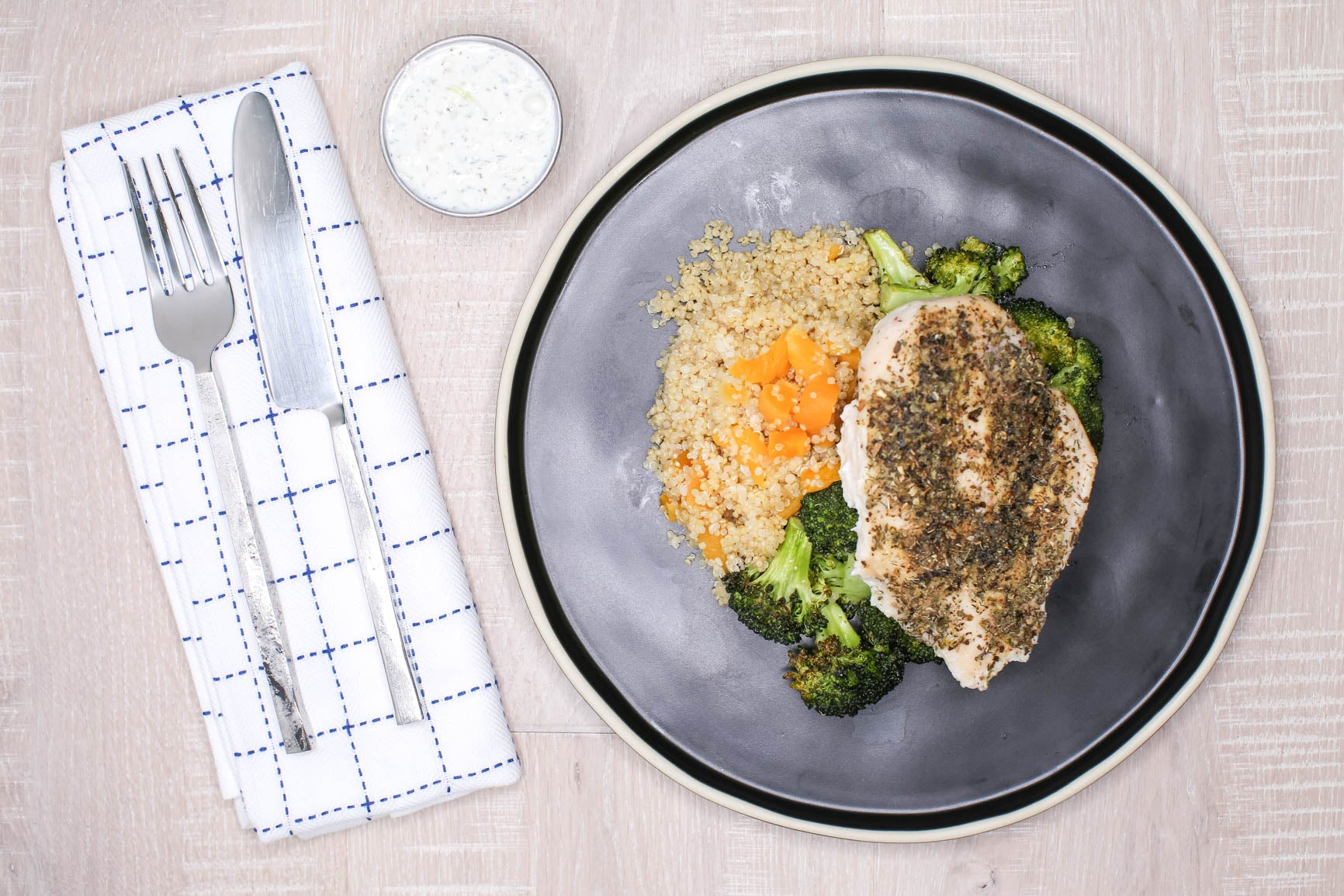 Greek Tzatziki Chicken & Apricot Quinoa