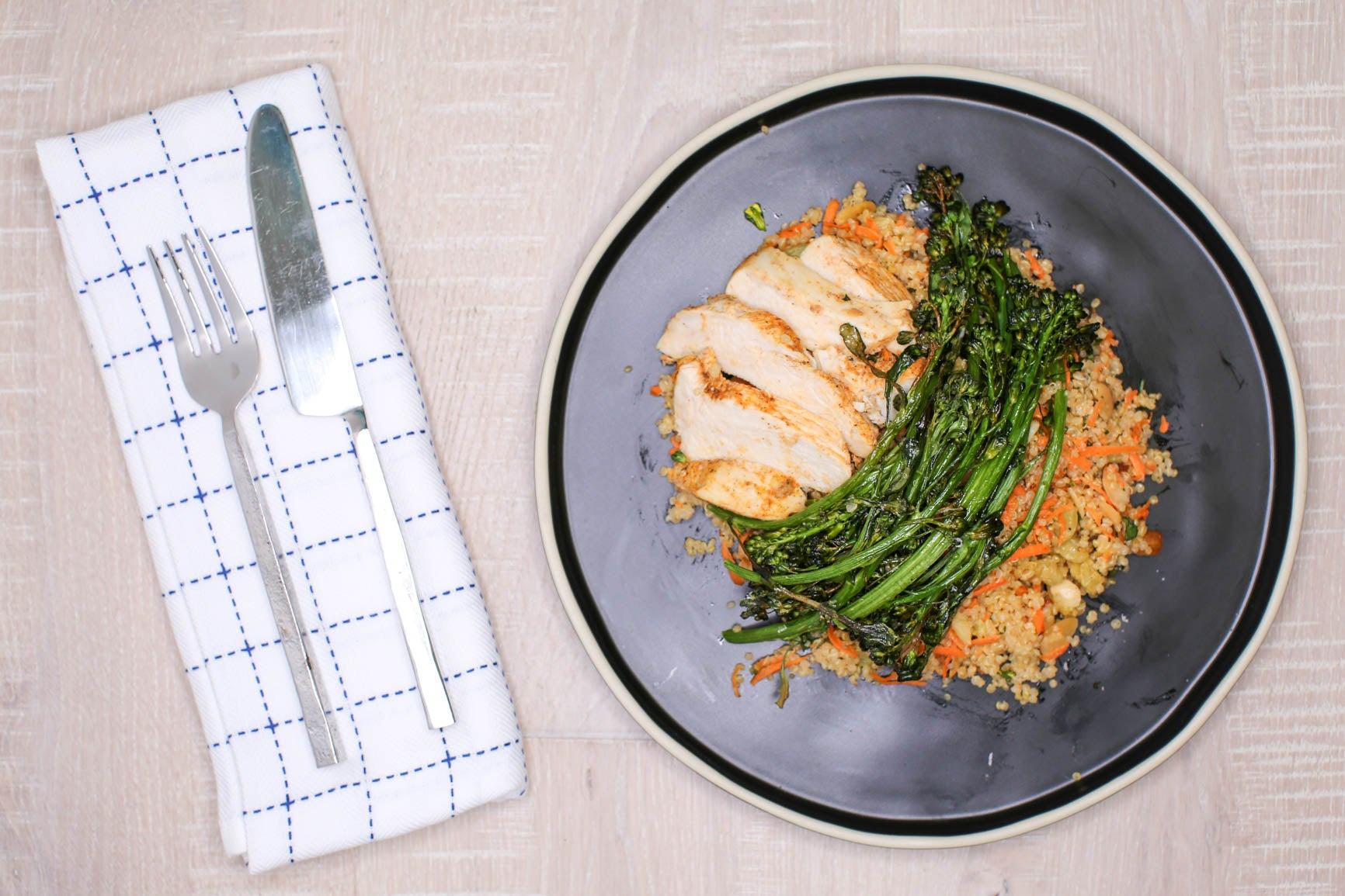 Herbed Quinoa Salad w/ Charred Broccolini