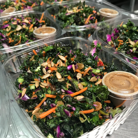 Raw Kale Salad w/ Balsamic Soy-Vinaigrette