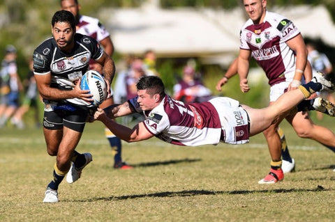 Tweed Heads Seagulls player Lindon McGrady looks for an opportunity in a match against Burleigh Bears