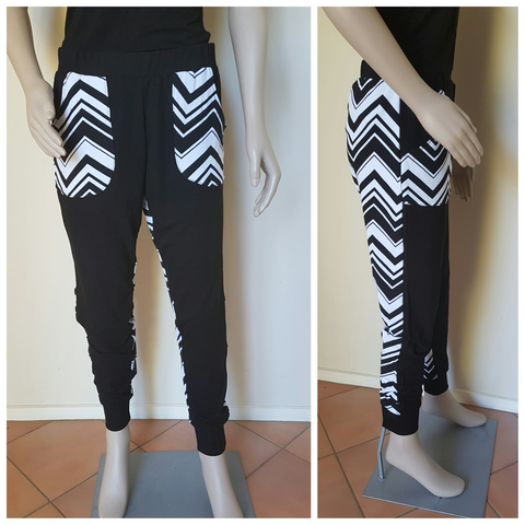 Black & White Chevron Pants
