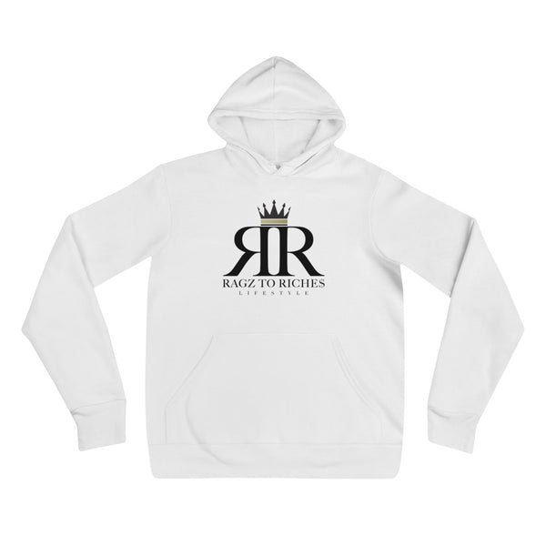 Ragz To Riche$ White Pull Over Hoodie