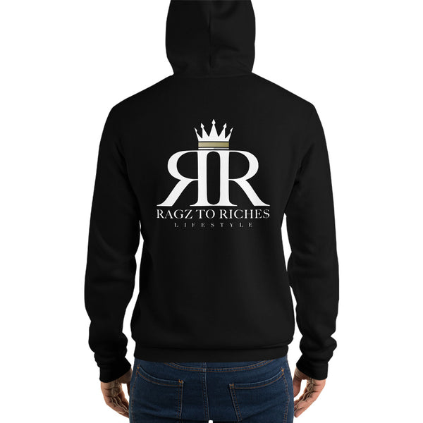 Ragz To Riche$ Black Pull Over Hoodie