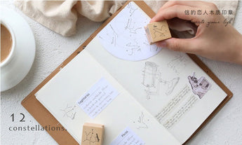 Twelve Constellation wooden stamp