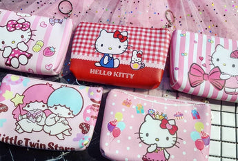Hello Kitty & Little Twin Star Medium Pencil Case / Makeup Case