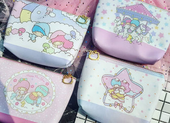 Little Twin Star Large Pencil Case / Makeup Case