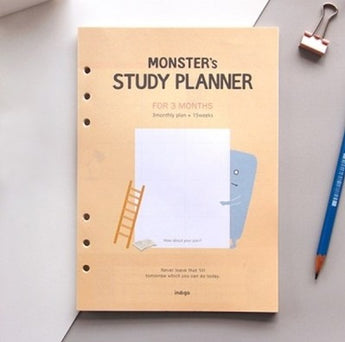 A5 3 Month Study Planner Inserts