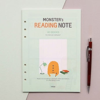 A5 Reading Note Inserts