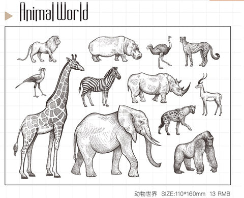 Animal World Clear Stamp