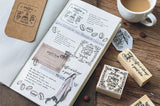 MO.CARD Coffee Series Wooden Stamp