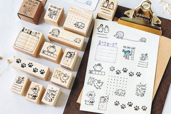 MO.CARD Cute Animal Wooden Stamp
