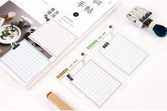 Grid Memo Pad / Sticky Note