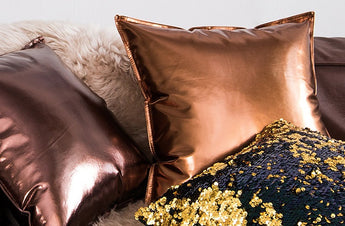 Pillow - Metallic Faux Leather