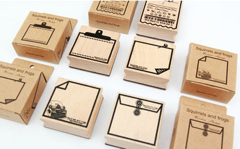 Note Wooden Stamps