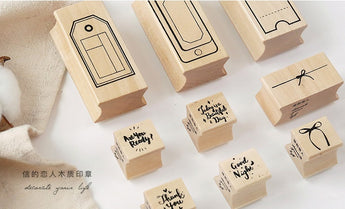 CARDLOVER Package Series Wooden Stamp