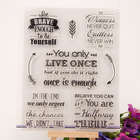 Clear Stamp - Motivation Quotes