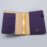 Royal Purple Gold Dotted W/Strap