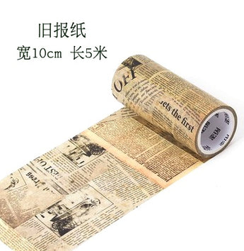 Vintage Newspaper Wide Washitape