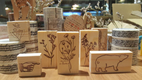 Handmade Raw Wooden Stamp