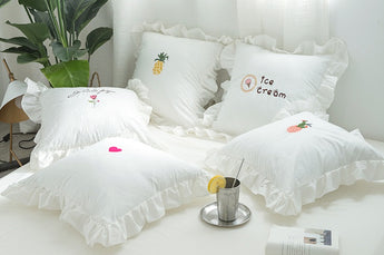 White on white cushion